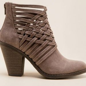 Fergalicious Weaver Woven Ankle Booties